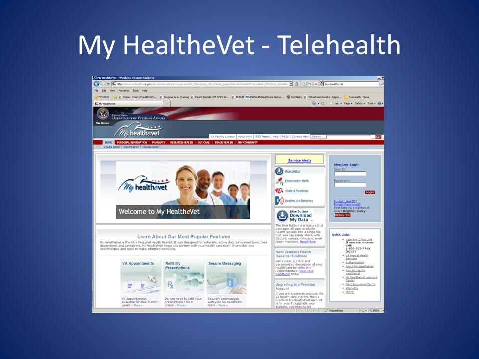 My HealtheVet - Telehealth