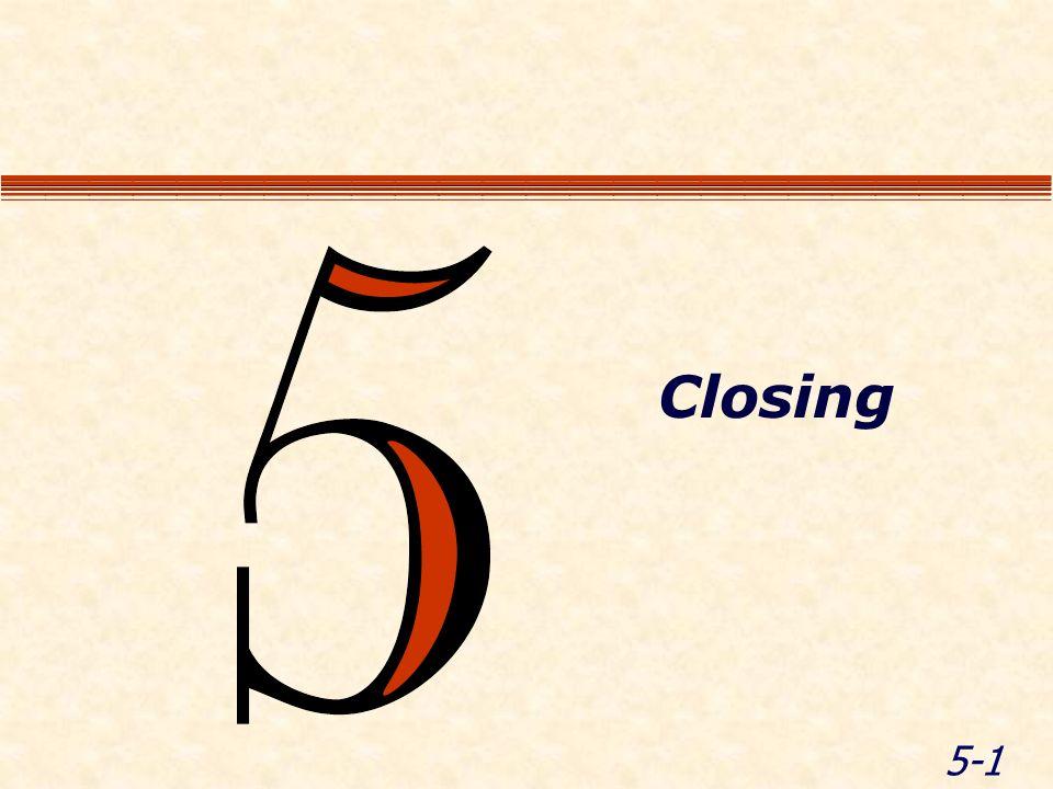 5-1 Closing