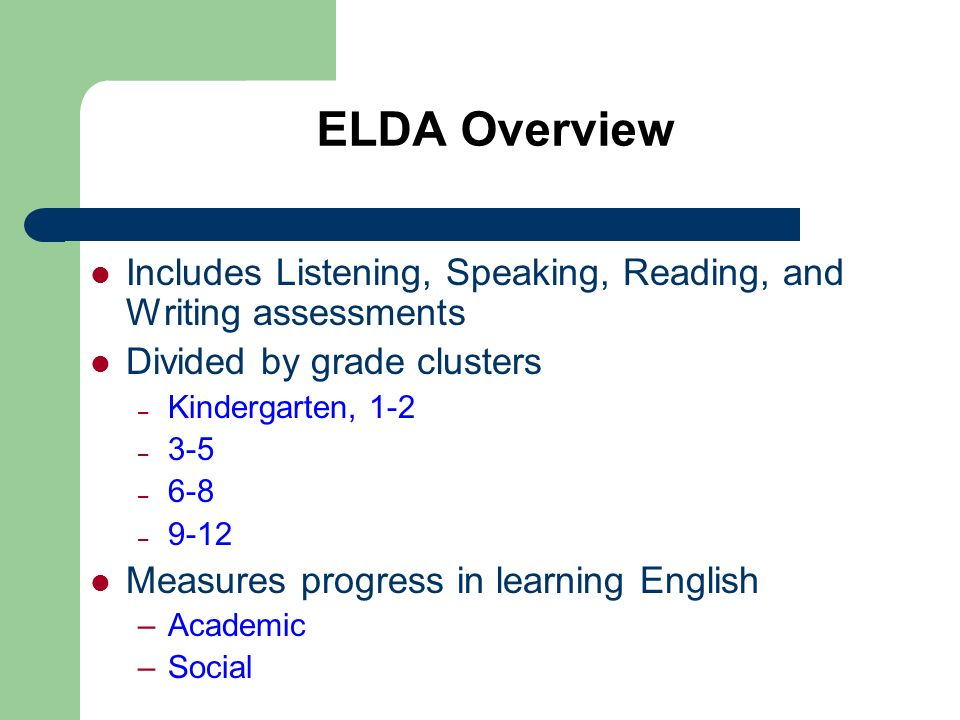 The Speaking Assessment The Speaking Assessment for each grade cluster is recorded on a CD and has the following seven sections.