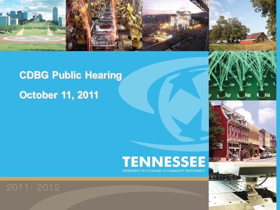CDBG Public Hearing October 11, 2011