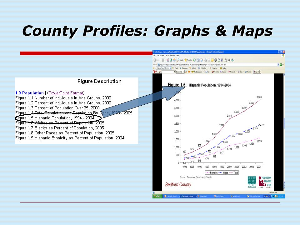 County Profiles: Graphs & Maps