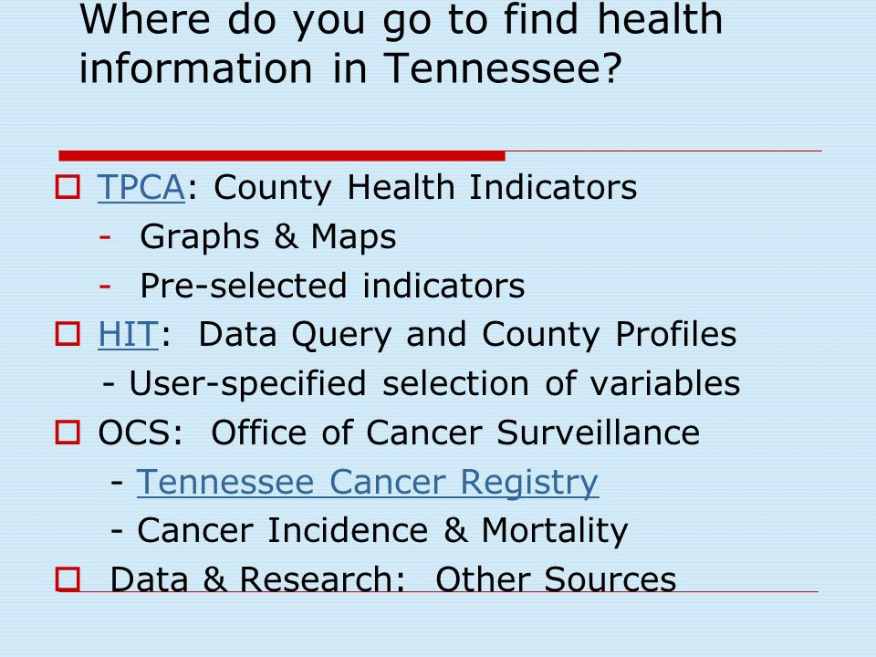 TCCCP The Plan – 2005 Guide to addressing cancer issues in TN Workgroups with specific objectives, activities and a work plan Living document, updated 06/07 Produce TN Burden of Cancer Document Special reports / research projects with Coalition
