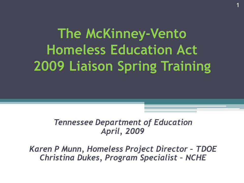 Topics for Discussion Tennessee Data & Stimulus Funds Identifying Students Immunization Report Title IA Set-Aside Local Liaison Responsibilities Updates 2