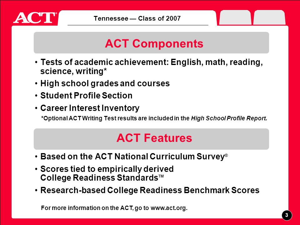 Part I Academic Achievement ACT Participation and Performance Five-Year Trends Racial/Ethnic Groups Minimum Core vs.