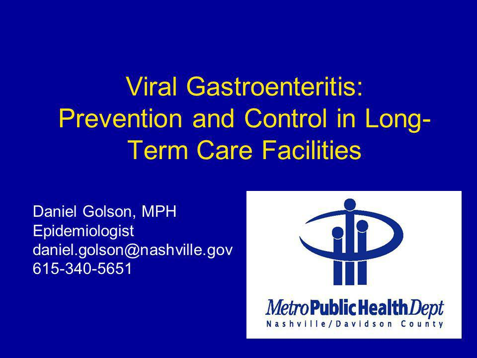 Practical Guidance for LTCFs www.health.nashville.gov/healthdata