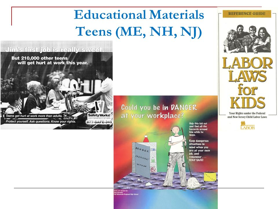 Educational Materials Teens (ME, NH, NJ)