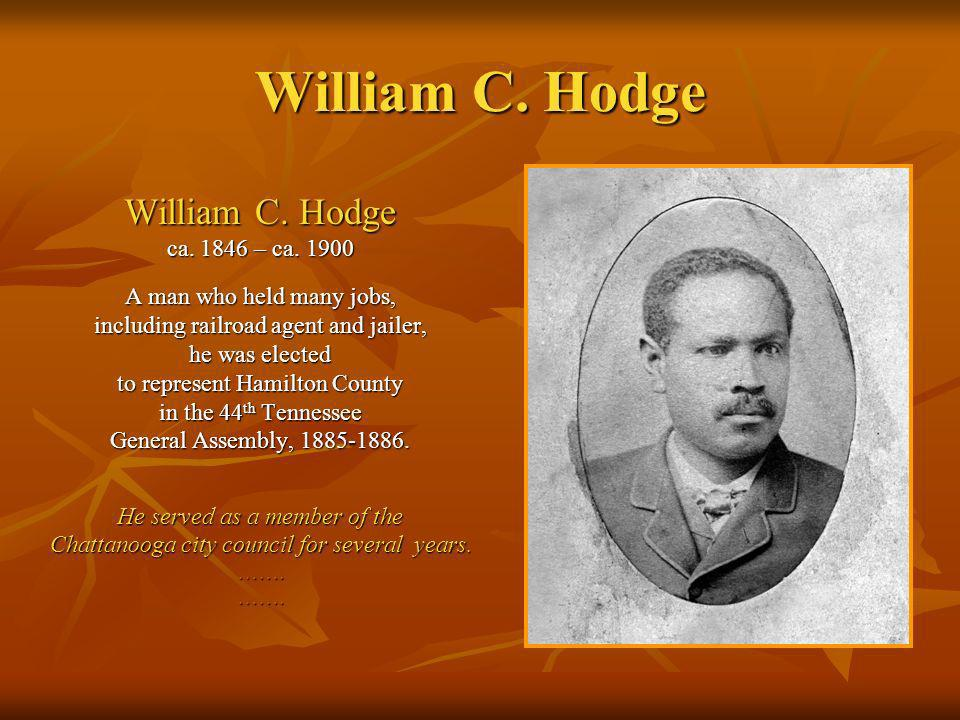 William C.Hodge, p.
