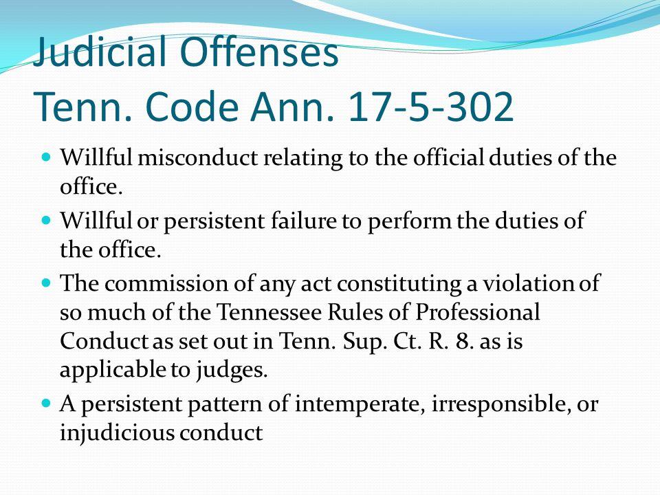 Judicial Offenses Tenn. Code Ann.