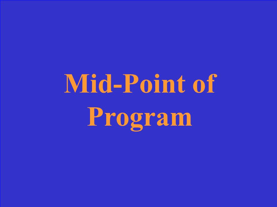 SAP Checkpoint for Programs < or = One Academic Year