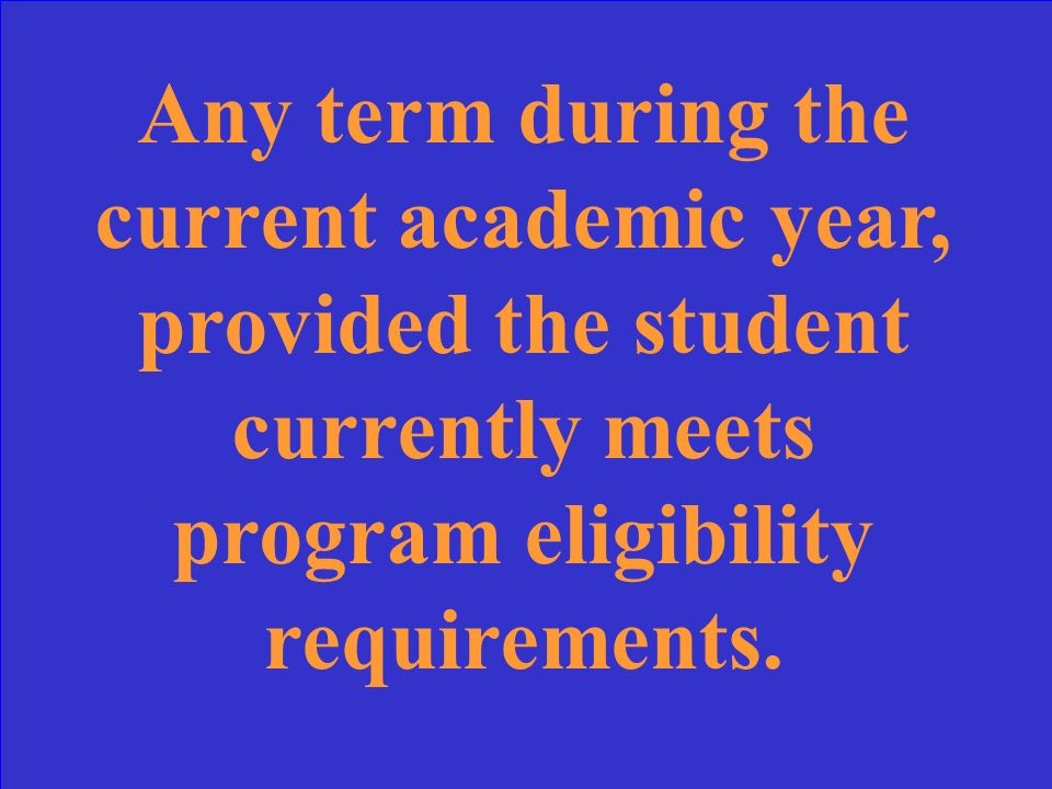 For which terms of the academic year can the student be paid State Grant if the loan default hold is removed during spring term