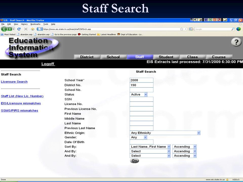 Staff Search