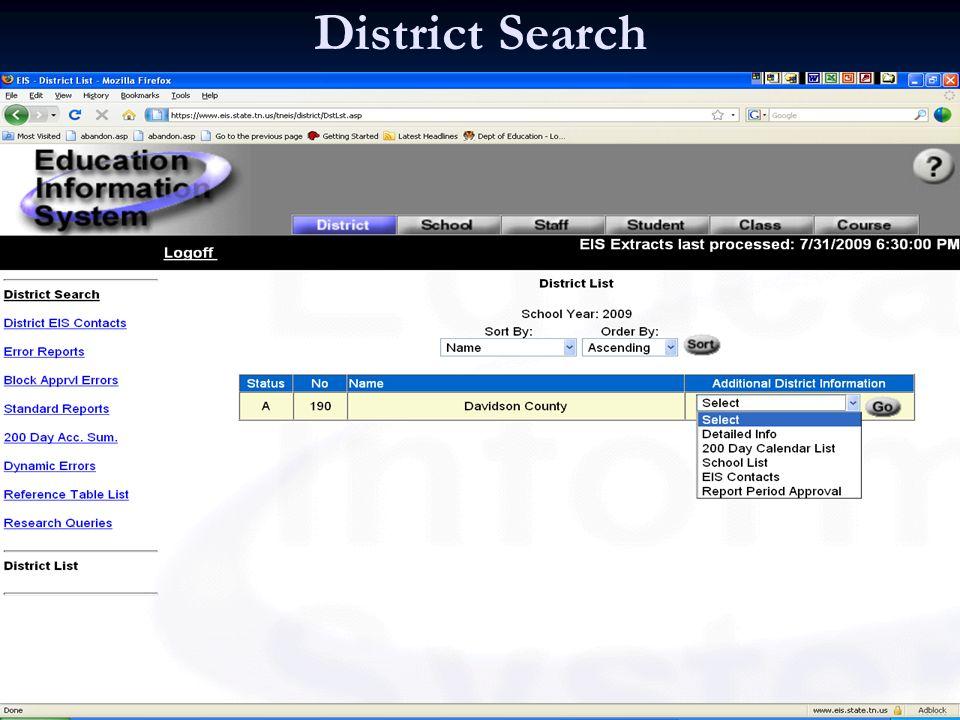 District Search