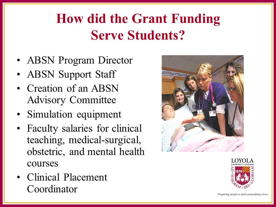 How did the Grant Funding Serve Students.