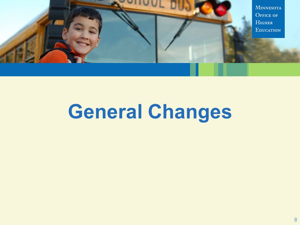 General Changes 8