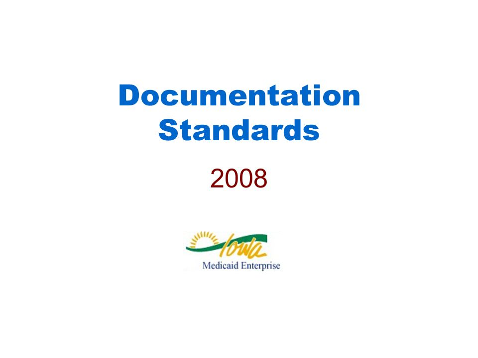 Documentation Standards 2008
