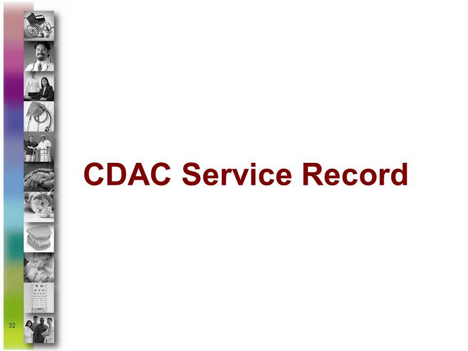 32 CDAC Service Record