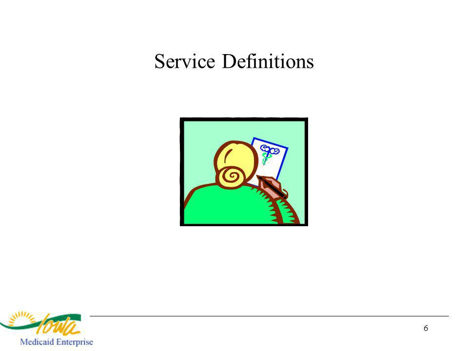 6 Service Definitions