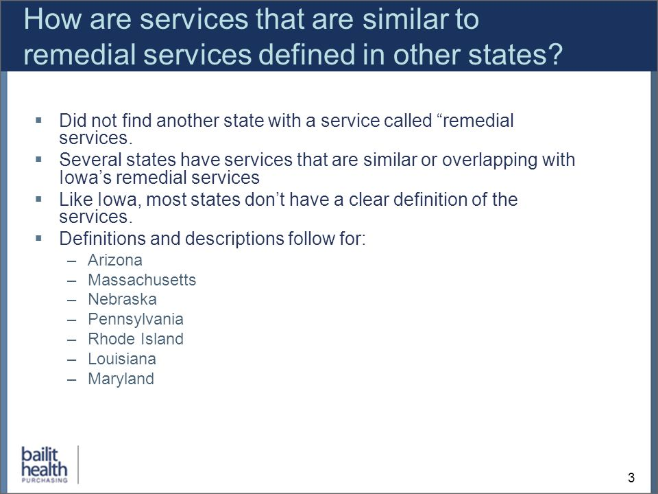 3 How are services that are similar to remedial services defined in other states.