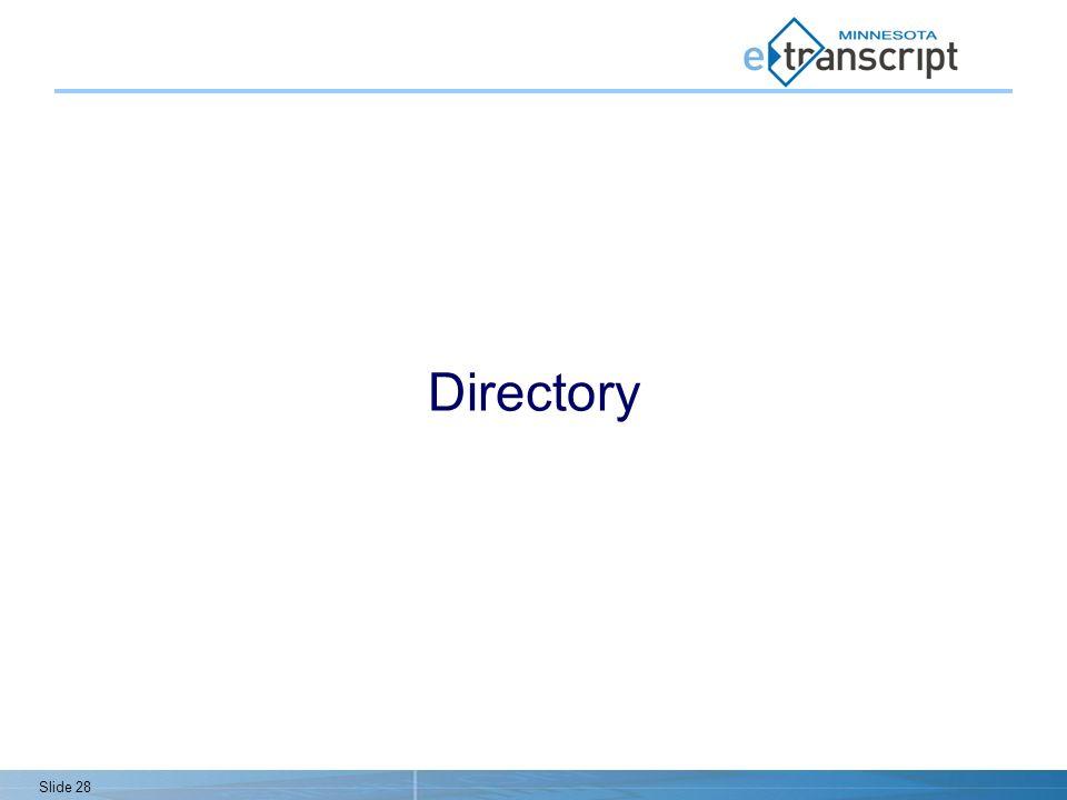 Slide 28 Directory