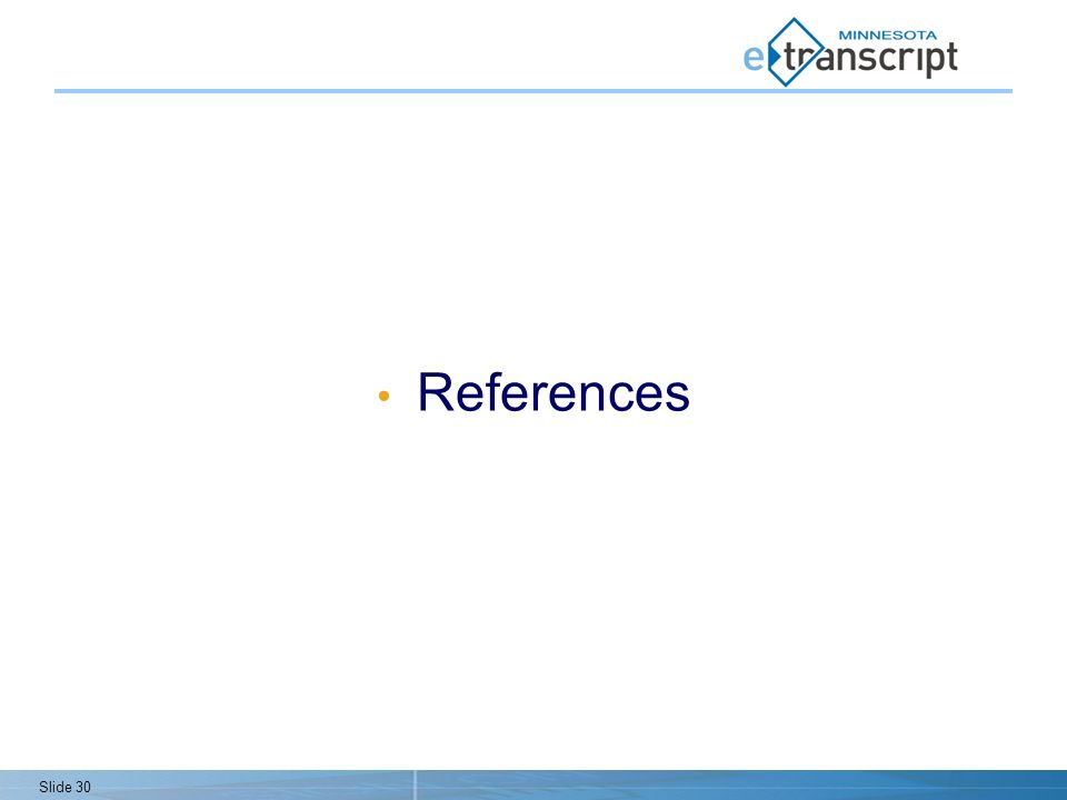 Slide 30 References