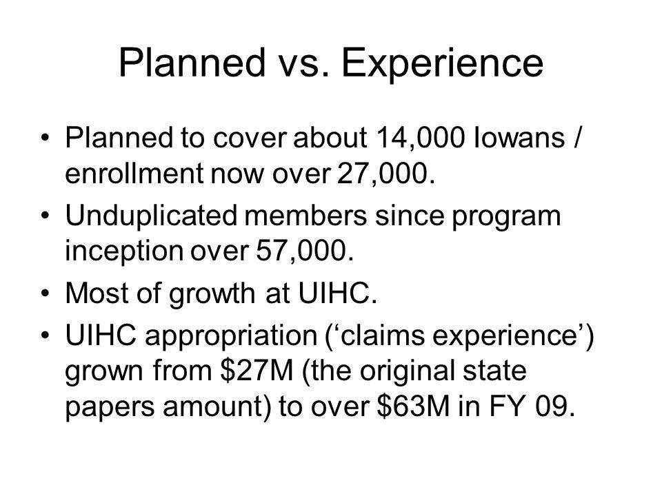 Program Statistics See handout.