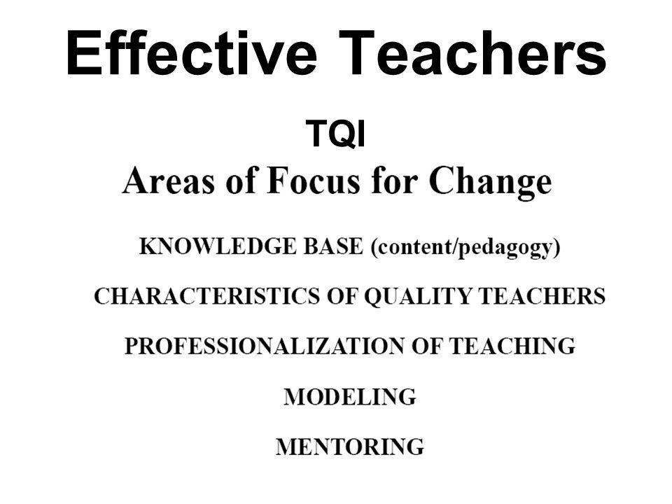 Effective Teachers TQI