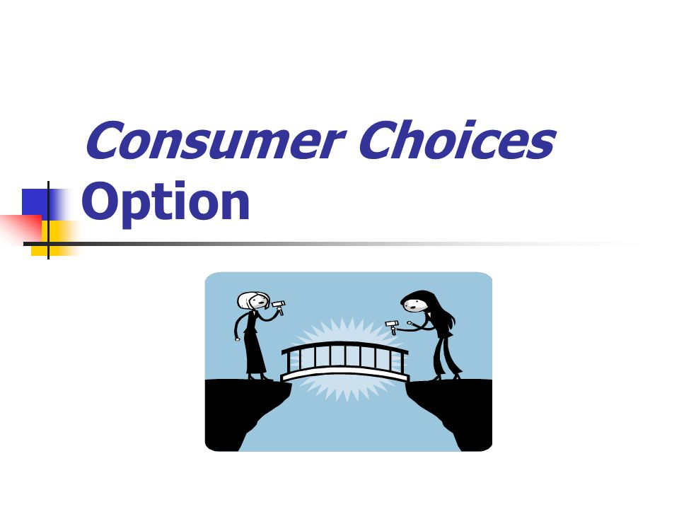 Consumer Choices Option will be available June 2006 starting in one DHS service area at a time.