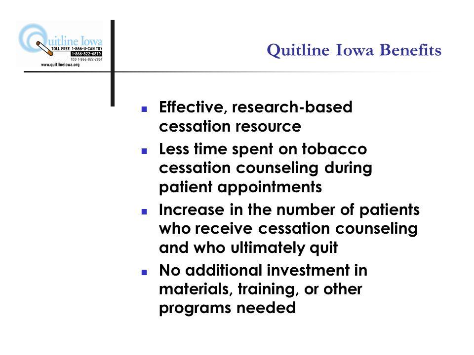 What is Quitline Iowa.