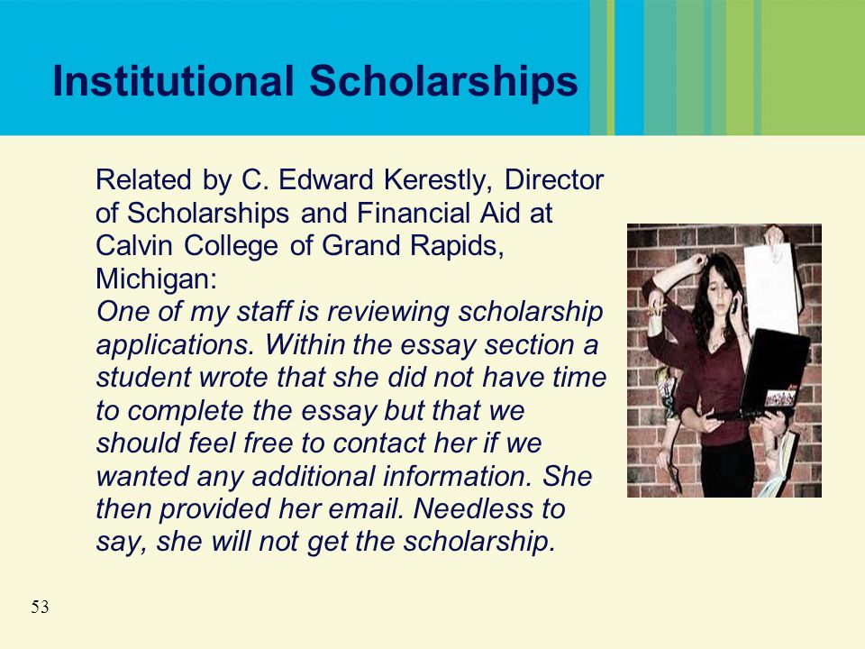 53 Institutional Scholarships Related by C.