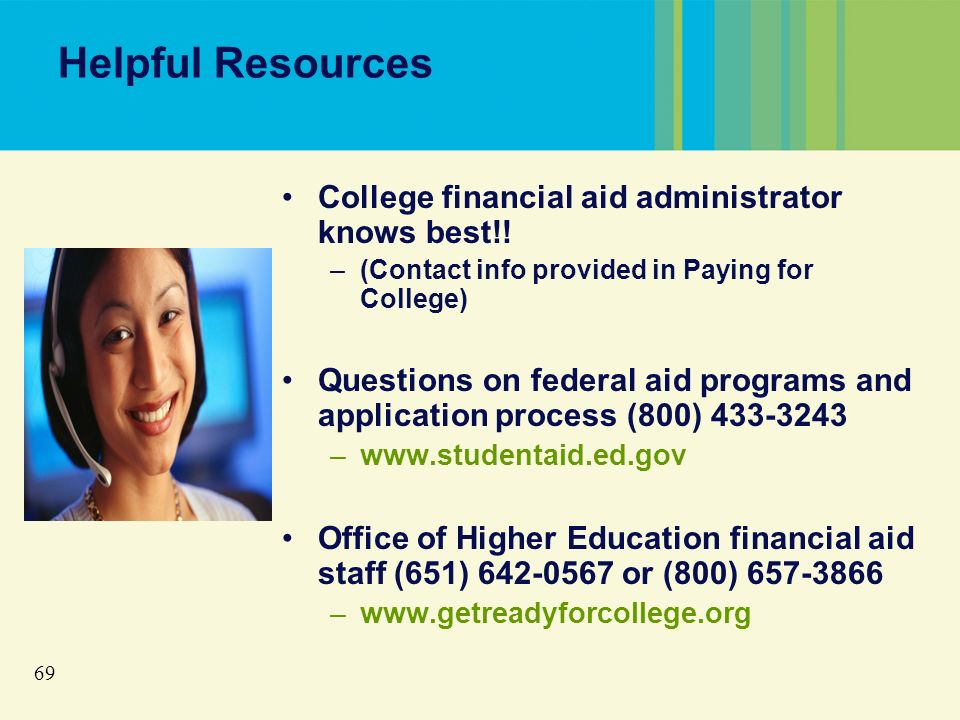 69 Helpful Resources College financial aid administrator knows best!.