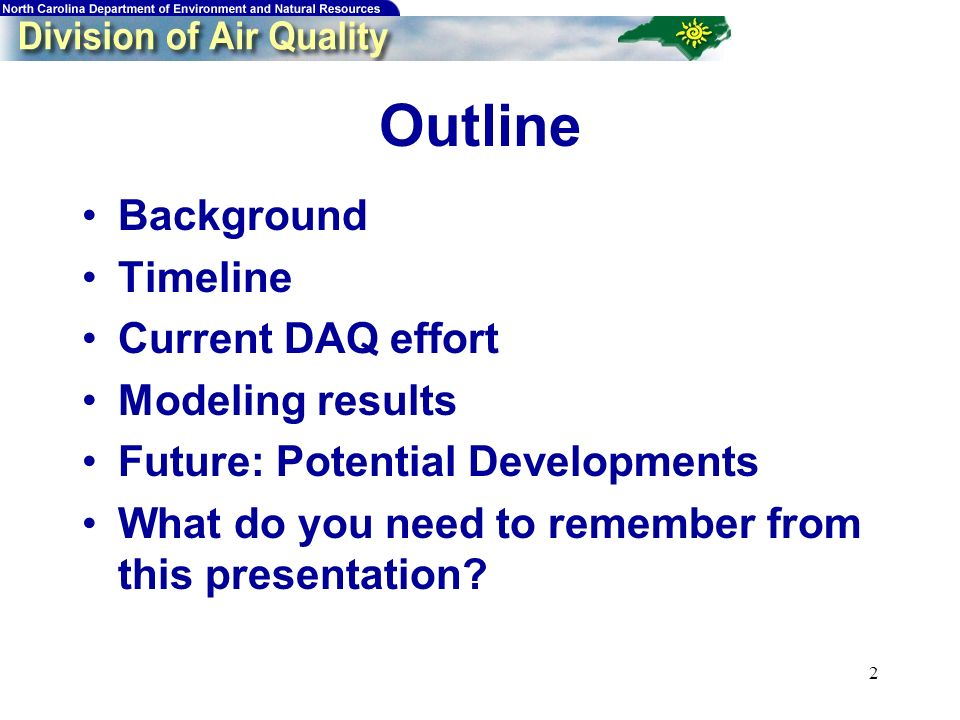 2 Outline Background Timeline Current DAQ effort Modeling results Future: Potential Developments What do you need to remember from this presentation