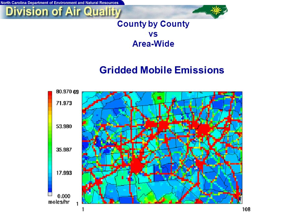County by County vs Area-Wide Gridded Mobile Emissions