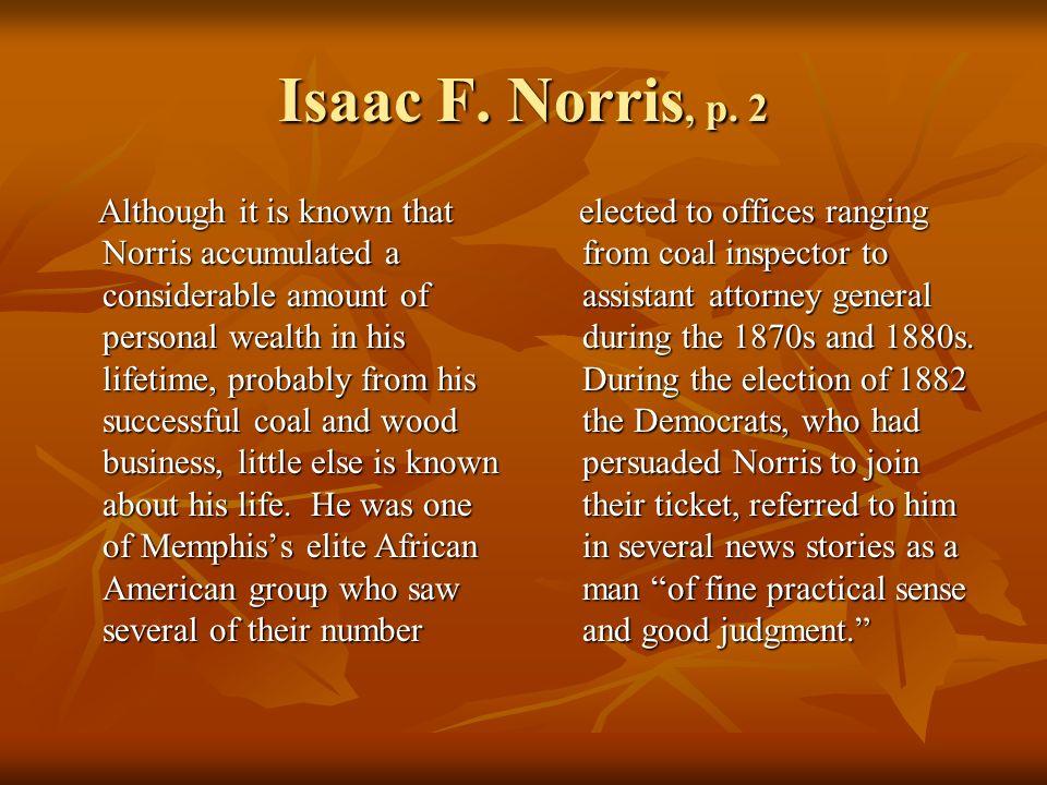 Isaac F. Norris, p.