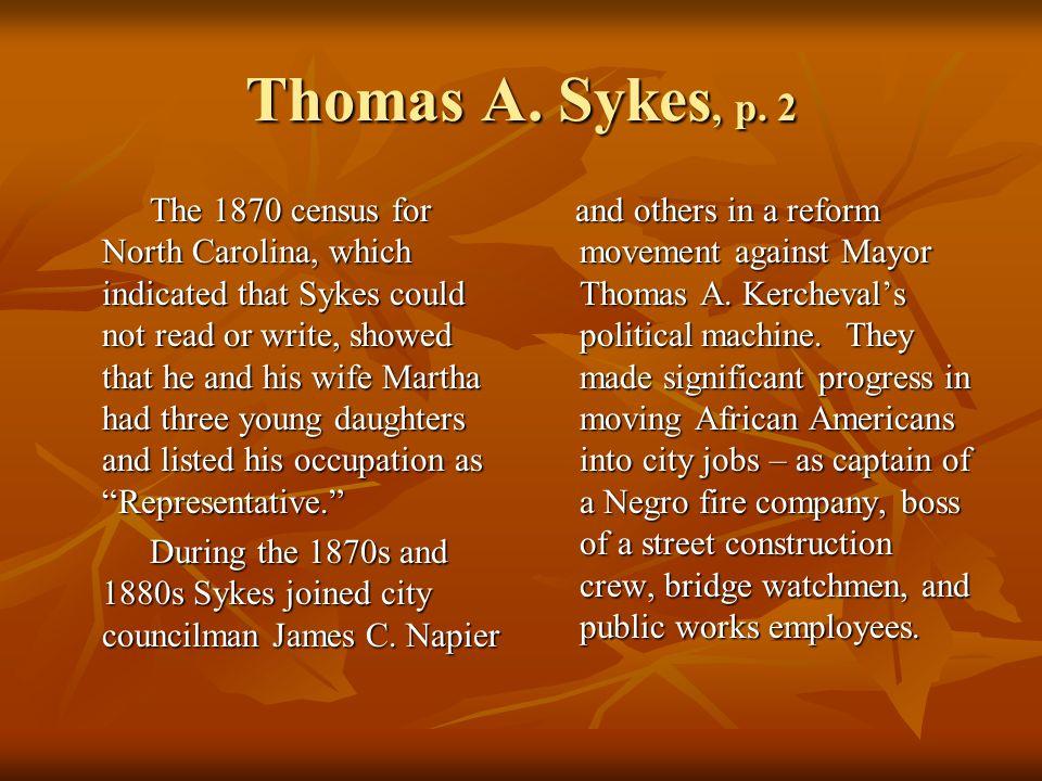 Thomas A. Sykes, p.