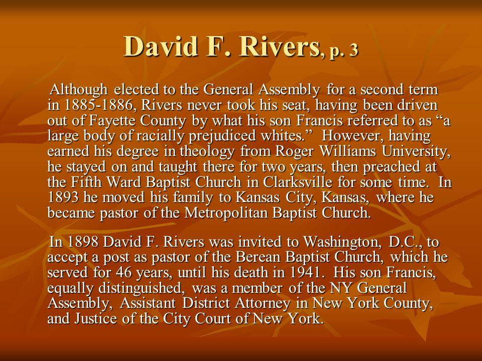 David F. Rivers, p.