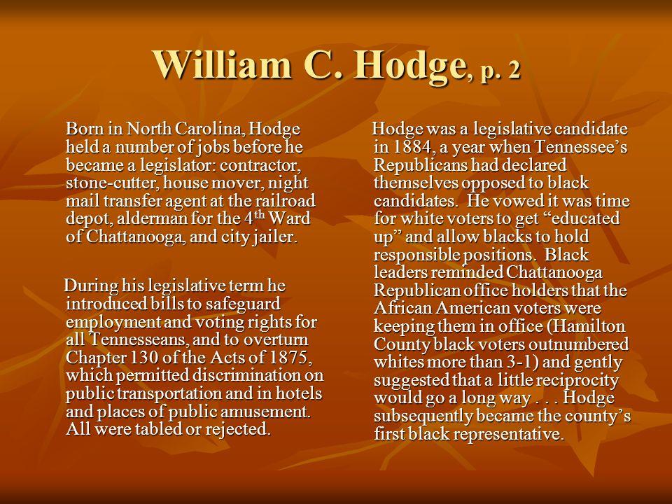 William C. Hodge, p.