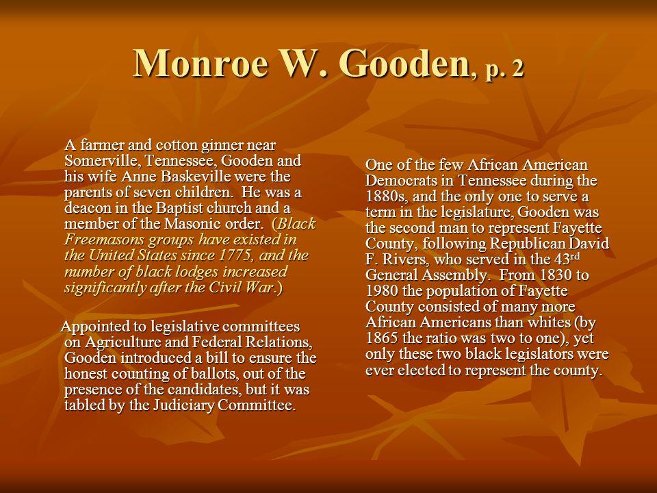 Monroe W.Gooden, p.