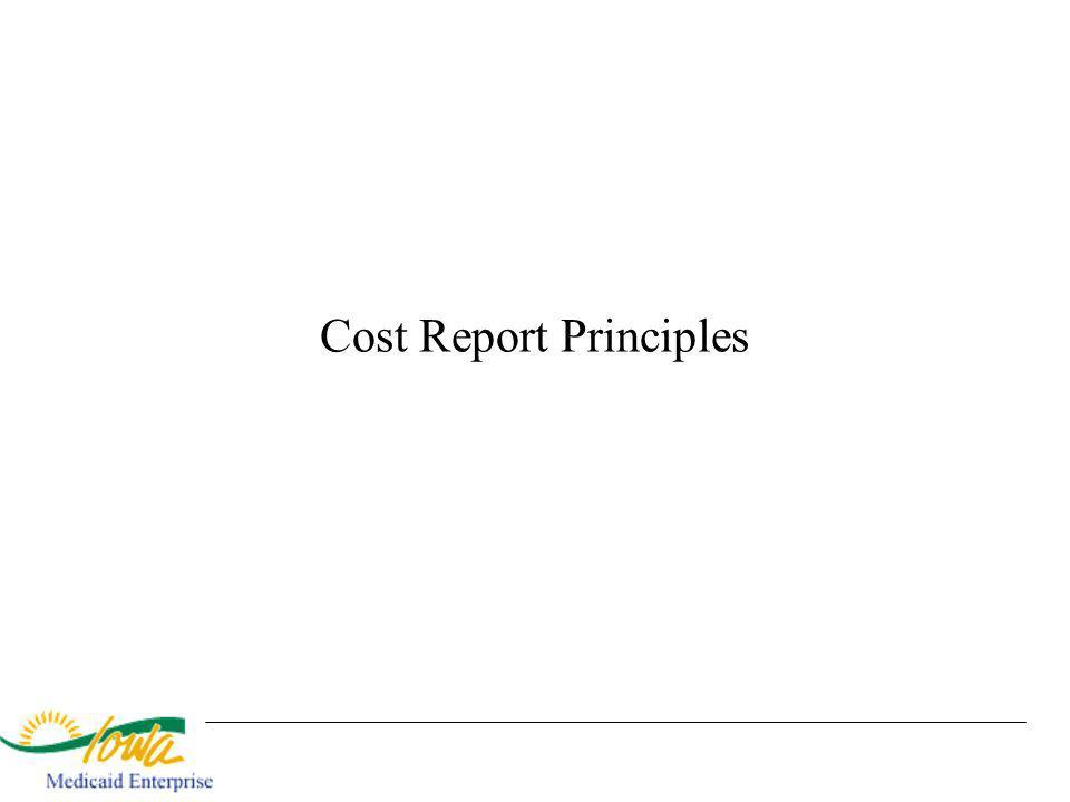 Cost Report Principles