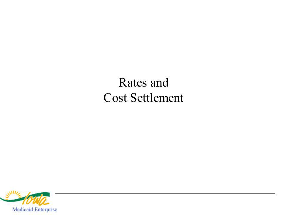 Rates and Cost Settlement