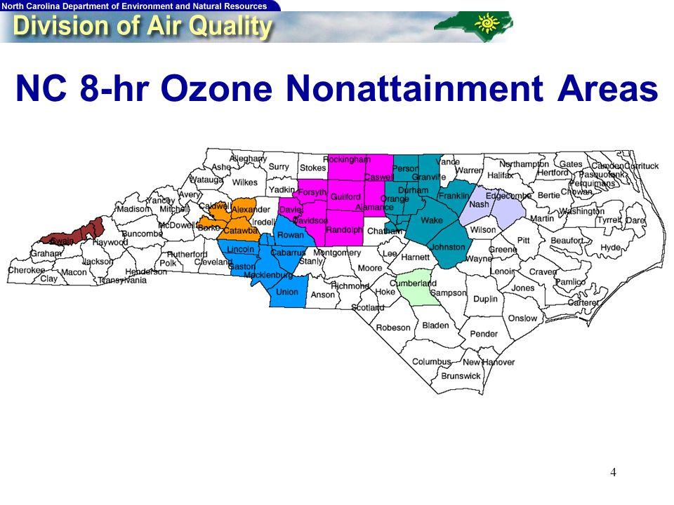 4 NC 8-hr Ozone Nonattainment Areas