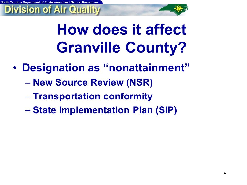 4 How does it affect Granville County.