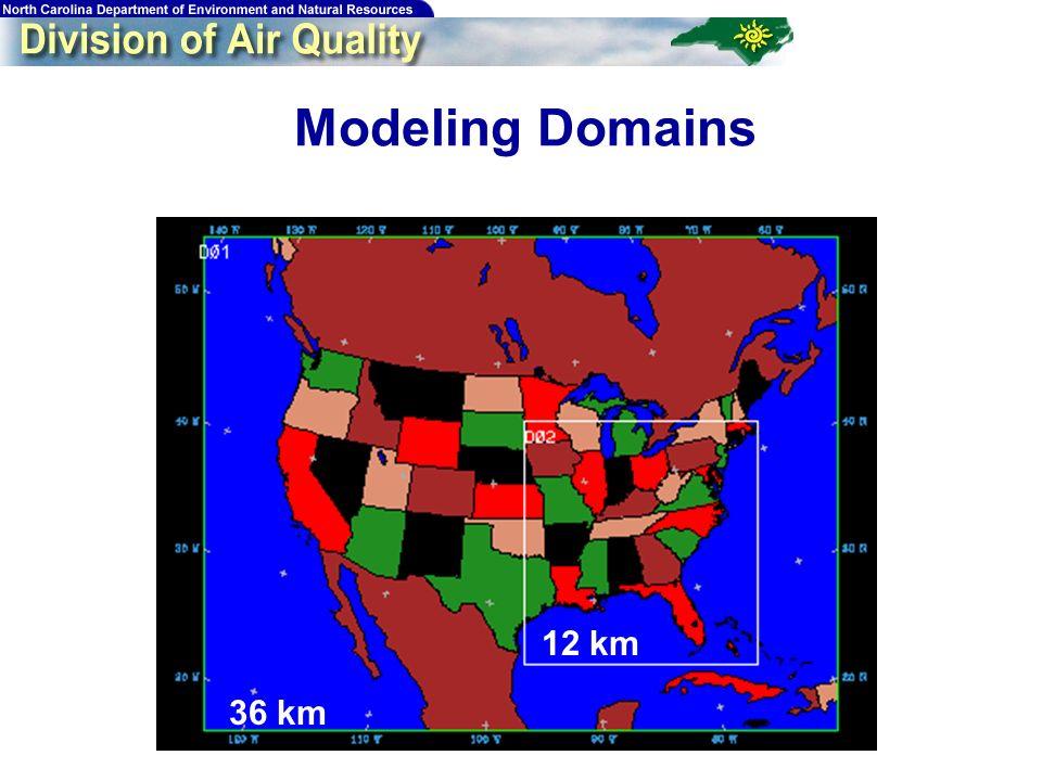 11 Modeling Domains 36 km 12 km