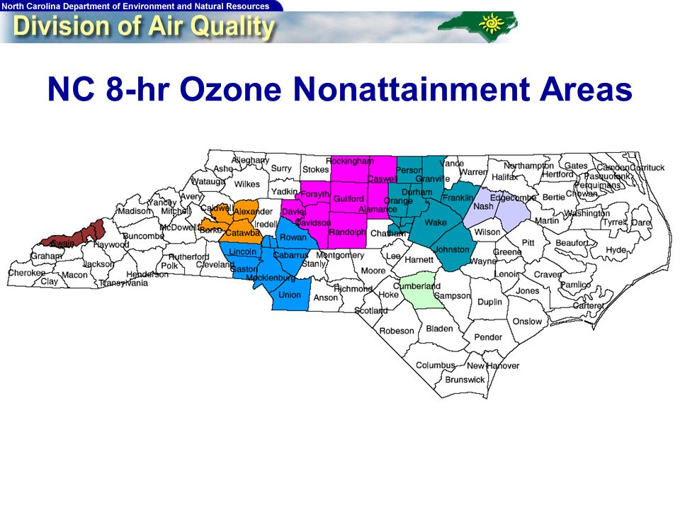 5 NC 8-hr Ozone Nonattainment Areas