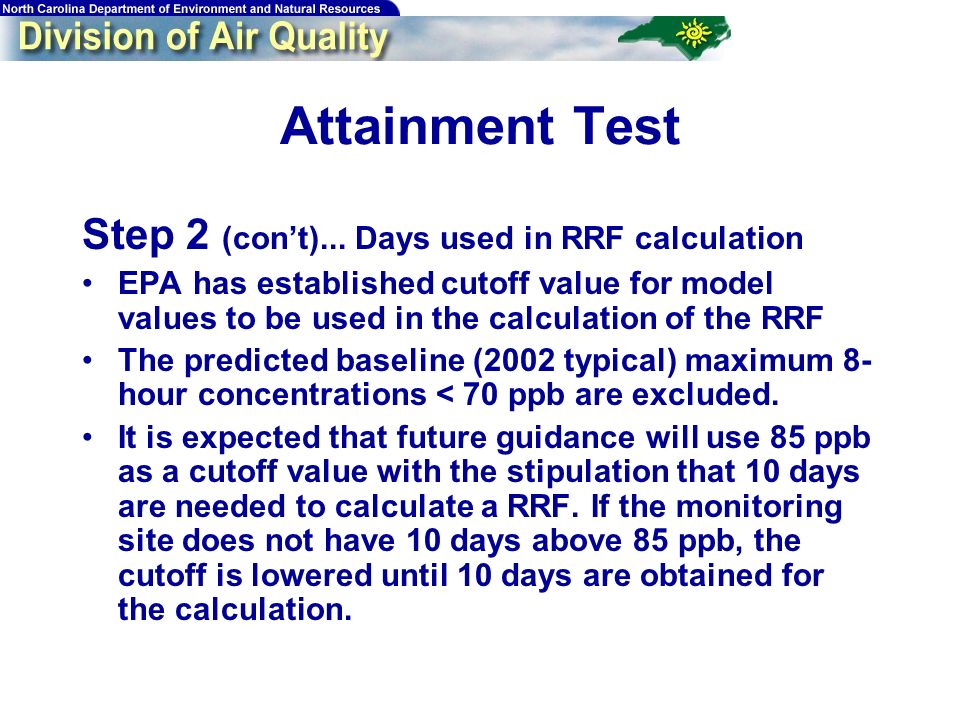 66 Attainment Test Step 2 (cont)...