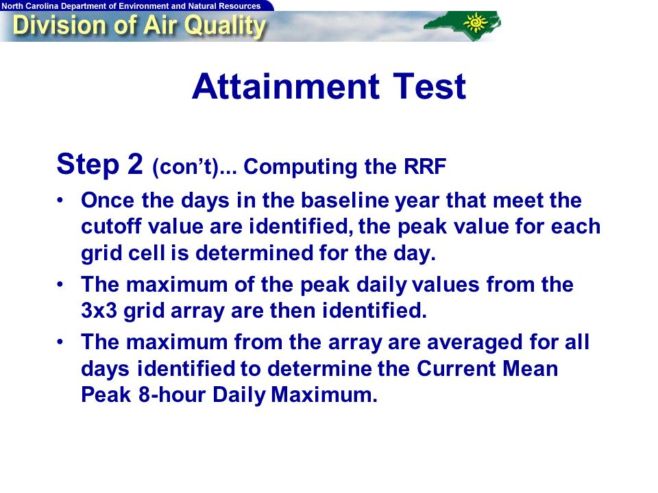 67 Attainment Test Step 2 (cont)...