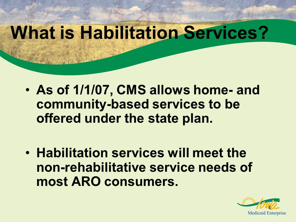 25 Home-based Habilitation Covered supports: –Adaptive skill development –Daily living activities –Community inclusion –Transportation –Adult educational supports –Social and leisure skill development –Personal care