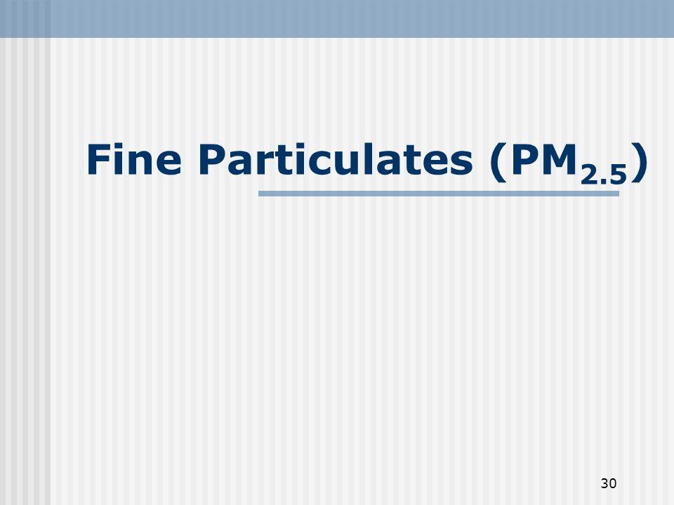30 Fine Particulates (PM 2.5 )