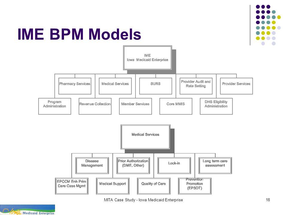 MITA Case Study - Iowa Medicaid Enterprise18 IME BPM Models
