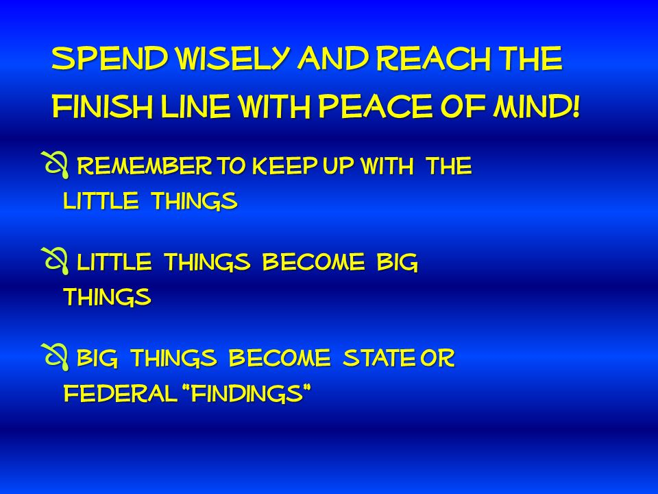 Spend wisely and reach the finish line with peace of mind.
