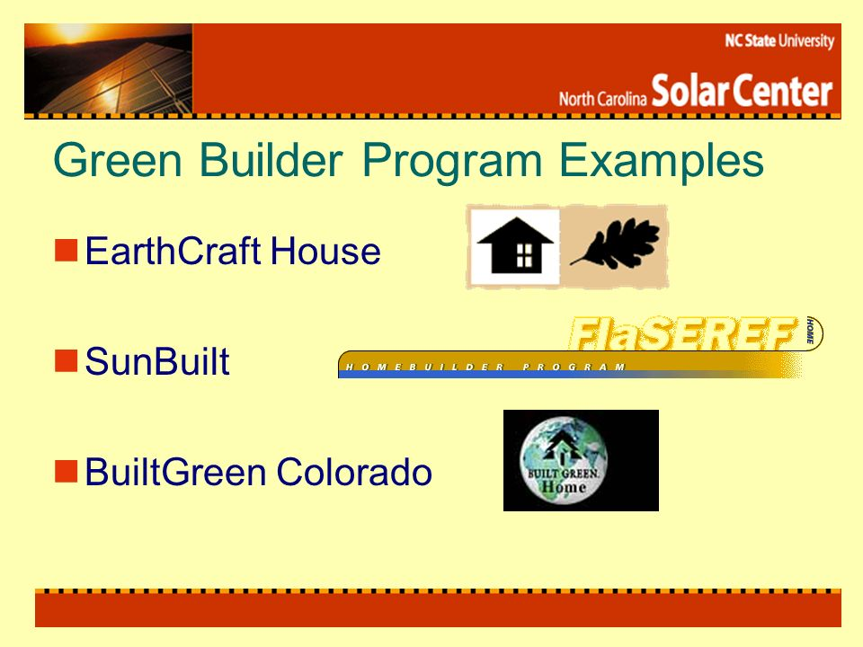 Green Builder Program Examples EarthCraft House SunBuilt BuiltGreen Colorado